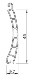 Lame hauteur 47 mm et épaisseur nominale 9 mm