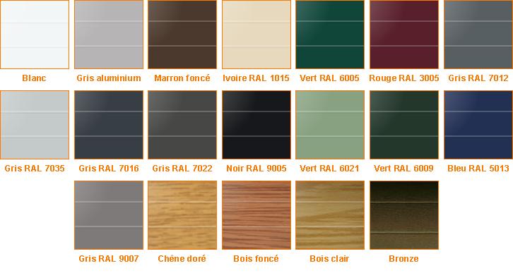 Coloris disponibles