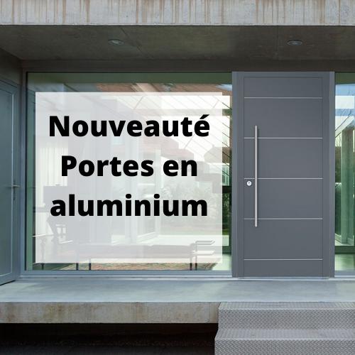 portes d'entrée aluminium